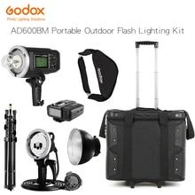 Godox ad600bm 600ws HSS gn87 Bowens крепление вспышки света+ x1, ad-h600b головы, Осветительные стойки, ничья-бар сумка для переноски