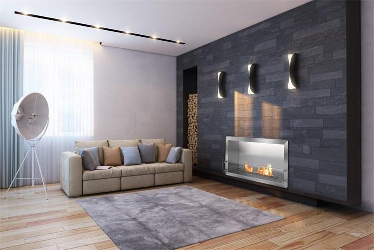 Master Flame Electric Fireplace With Stainless Steel