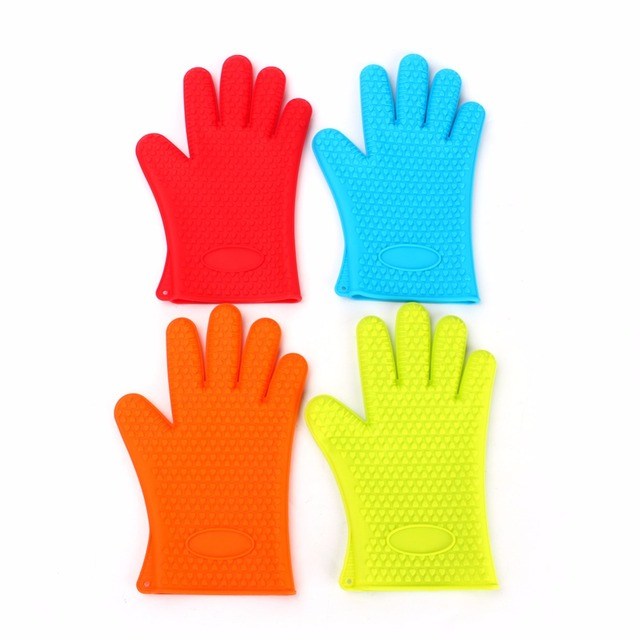 Home Kitchen Gloves Silicone Oven Heat Resistant Temperature