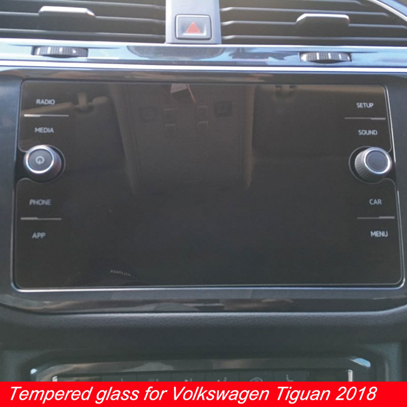 8 Inch For Volkswagen Tiguan Screen Protector Car GPS Navigation LCD Tempered Film For VW Tiguan Atlas Accessories 2018