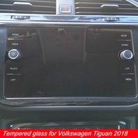 Bilgisayar ve Ofis'ten Tablet Ekran Koruyucuları'de 8 inç Volkswagen Tiguan Için Ekran Koruyucu Araba GPS Navigasyon LCD Için Temperli Film VW Tiguan Atlas Aksesuarları 2018