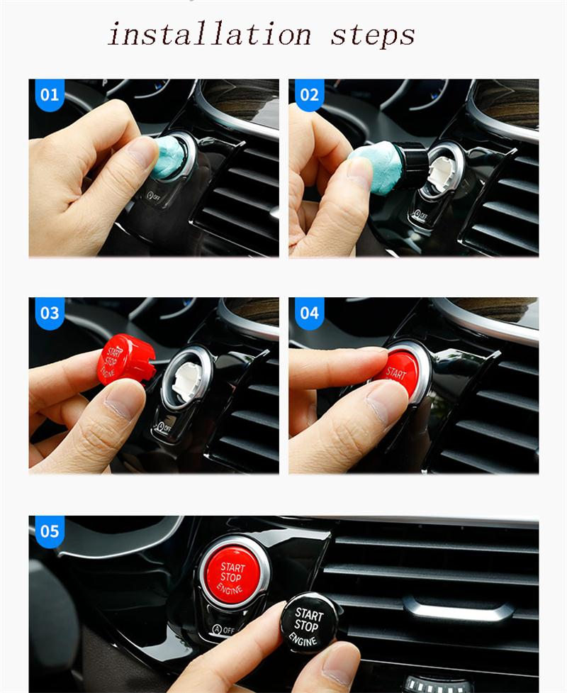 KSTE Auto Start Stop del Motore Interruttore Coperchio Pulsante for BMW F//G//E del Telaio E Chassis