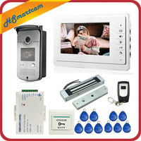 Wired 7 inch Video Door Phone Intercom Entry System 1 Monitor + 1 RFID Access HD Camera + Electric Magnetic Lock Access Control