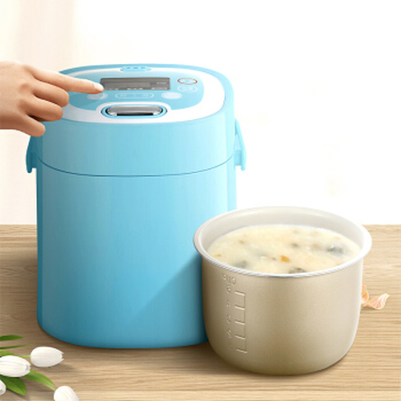 Intelligent Reservation Rice Cooker with Non-stick Alloy Liner /Removable Upper Lid Mini Rice Cooker Anti-dry and Anti-overflow