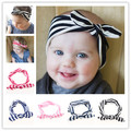 Cheap New Cotton Baby Headwrap for girl hair Bunny Ears Bow Strechy Knot Headband Fashion Hairband 10pcs/lot Free Shipping