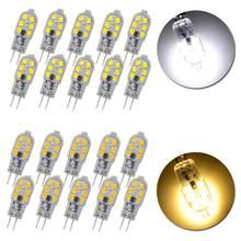10 шт. светодиодные лампы G4 3 Вт AC/DC 12 В 220 В SMD2835 лампада LED G4 мини-лампа прозрачные фары заменить галогенные DXY88