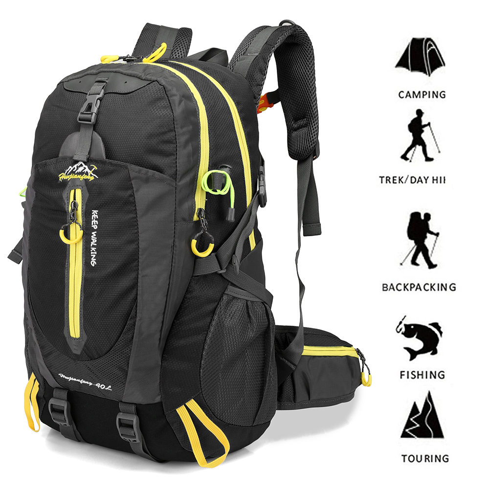 ... 40L Waterproof Climbing Bag Travel Backpack Bike Bicycle Bag Camping  Hike Laptop Daypack Rucksack Outdoor Men 95b6cf58f38bf