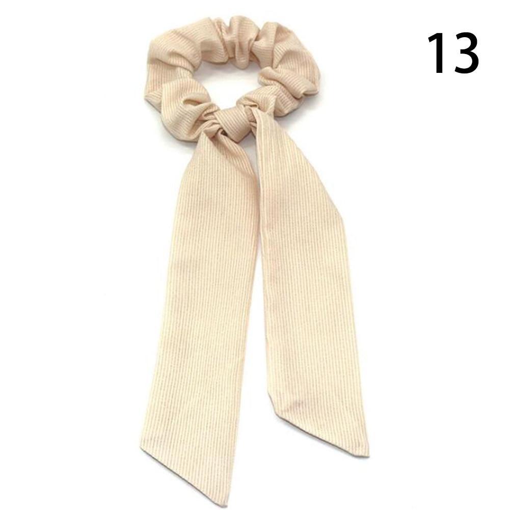 Богемные резинки для волос в горошек с цветочным принтом и бантом, женские эластичные резинки для волос, повязка-шарф, резинки для волос, аксессуары для волос для девочек - Цвет: 13