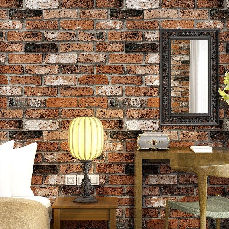 beibehang wallpaper 3d bricks personality clothing store retro bar