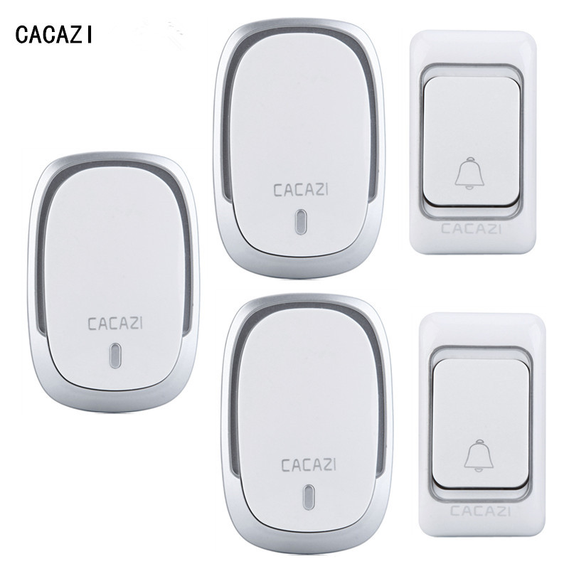 ФОТО 2 Buttons + 3 Receivers 200m Remote Control 36 Song Waterproof DC Wireless Doorbell