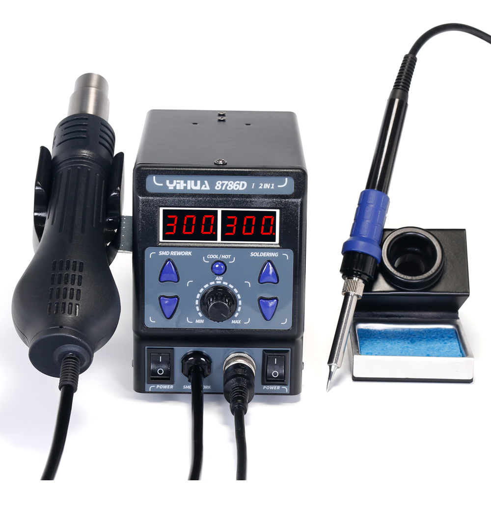 YIHUA 8786D Hot Air Digital Soldering Station for Phone and Laptop Chip Soldering 7