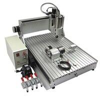 ЧПУ маршрутизатор 6090 металл резьба машина 1.5кВт с водяным охлаждением 3 4 оси древесный фрезерный станок 110 V 220 V