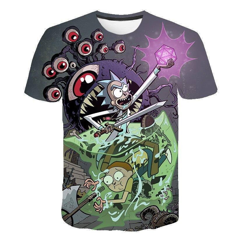 2019 new Rick and Morty 3D Print t shirt Men Women tshirt Summer Anime Short Sleeve O-neck Tops&Tees Play Drop Ship