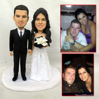 Anime wedding Toys Personalized Custom Polymer Clay Figurine From Photos Reality doll human face Valentine's day gift custom