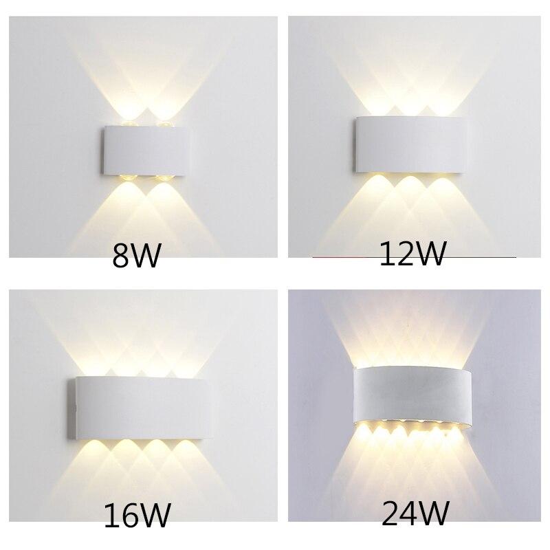 modern led wall lamp outdoor waterproof IP65 8w 12w 16w  LED Wall Lamp AC85~265V bedroom Light and Outdoor Decoration