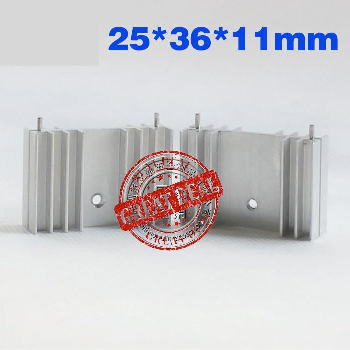 Free Shipping  Wholesale 100PCS Aluminum Mosfet Heatsink  25*23*16MM IC Heatsink