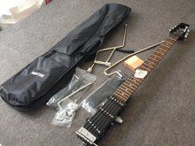 Ministar Caster electric guitar G-BO1 S-S-S pickups mini travel kroean parts including bigbag and