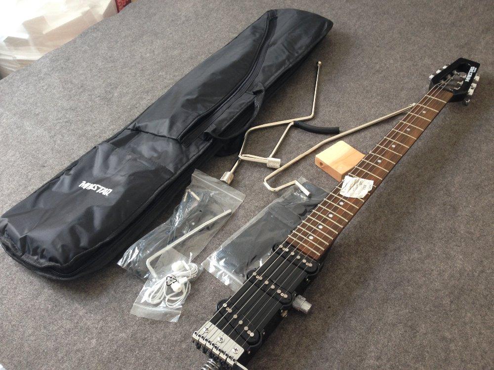 Ministar roulette guitare électrique G-BO1 micros S-S-S mini guitare voyage guitare kroean pièces y compris bigbag et pièces