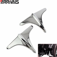 Motorcycle Chrome Black Rear Fender Accents Leading Front Edge Trim For Harley Touring Trikes FLHT FLHX