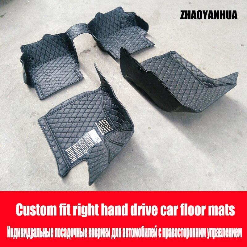 """""""zhaoyanhua Rechterhand Drive Auto Auto Vloermatten Gemaakt Voor Toyota Land Cruiser 200 Prado 150 120 Highlander Fj Crusier Case Auto-st"""