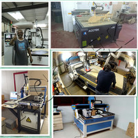 ACCTEK Competitive 3 axis cnc router 1325 3kw WATRE cooling spindle