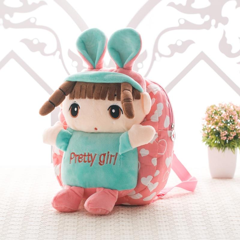 Cute Girl Backpacks School Bags For Kindergarten Baby Girls Boys Plush Lovely Kids Children Doll Schoolbags Backpack