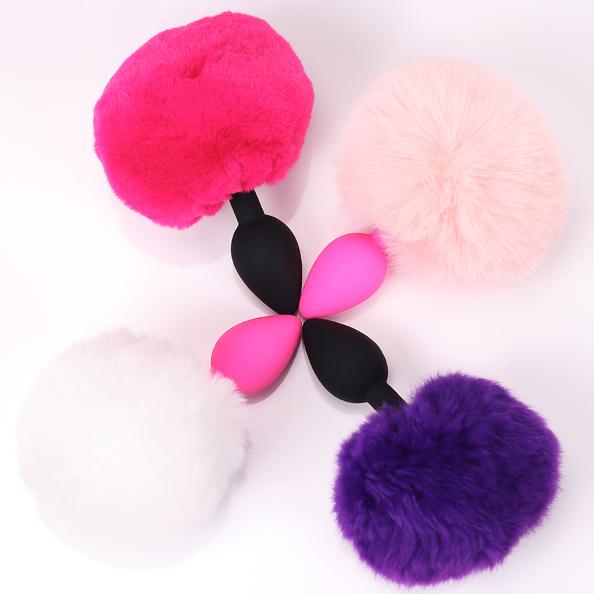 81c8b403c New Multiple colors Small Size Silicone Rabbit Tail Anal Plug Bunny Tail  Sex Toys for Women Lesbian Man Gay Couples QQGS09 on Aliexpress.com