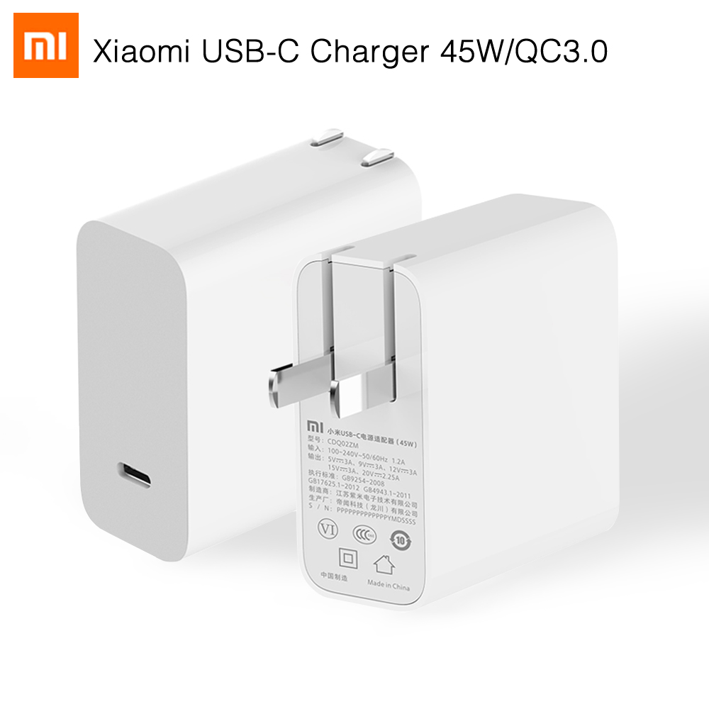 Original Xiaomi Type-c to Type C Charger 45W Supports Power Delivery PD 2.0 Quick Charge QC 3.0 for MacBook Pro Laptop Tablet