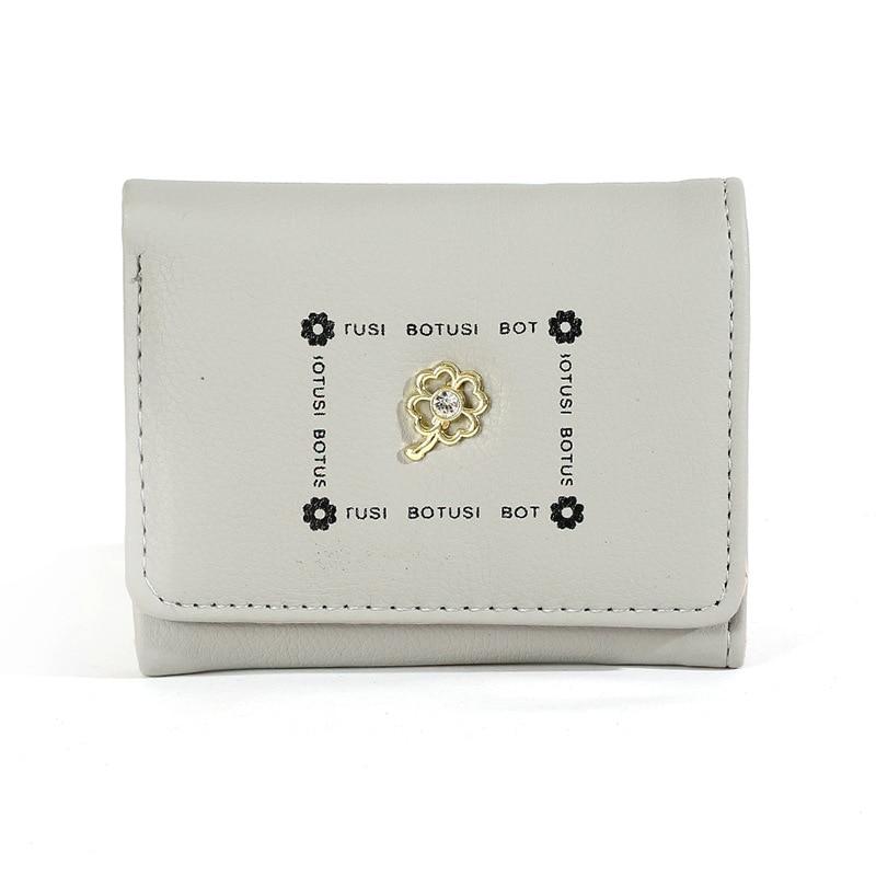 BOTUSI Diamond Flower Fashion Business Id Credit Card Holder Women Bank Card Case Cardholder Woman Wallet PU Leather Ladies