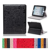 Cartoon Pattern Stand PU Leather Magnetic Cover Protecter Case For IPad 2 3 4 Tablet Free