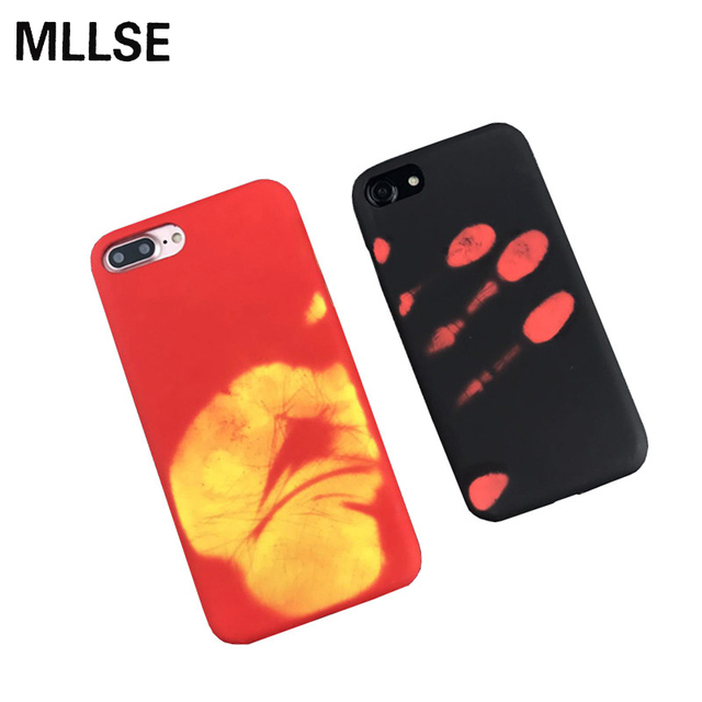 Temperature Sensing Change Color Phone Case Cover For iPhone X 6S 7 Plus For Samsung S8 Plus S7