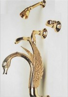 Бесплатная доставка на заказ 5 шт. водопад Лебедь душ и ванна кран Настенные водопад Лебедь Кран Смесителя