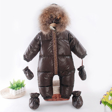 2016 winter romper baby boy clothes newborn cotton- padding rompers infant thick warm outerwear costume girls jumpsuit snowsuits