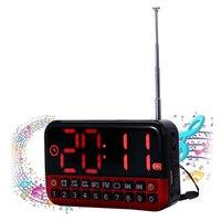 2017 Multi Functional Alarm Clock LED Display Despertador Digital Watch Portable Digital Alarm Clock Can As