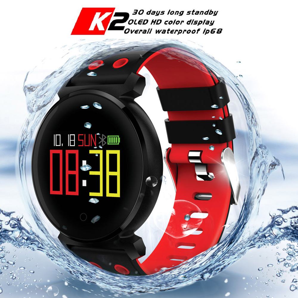 CACGO K2 Bluetooth 4.0 Smart Watch Sleep/Heart Rate/Blood Pressure/Blood Oxygen Monitor Remote Camera For iOS / Android Phones jaysdarel heart rate blood pressure monitor smart watch no 1 gs8 sim card sms call bluetooth smart wristwatch for android ios