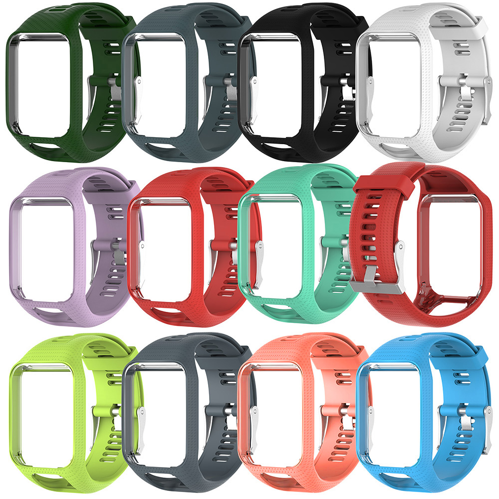 11 Clolors Watchband for TomTom 2 3 Series Watch Strap Silicone Replacement Wrist Band Strap For TomTom Runner 2 3 GPS Watch11 Clolors Watchband for TomTom 2 3 Series Watch Strap Silicone Replacement Wrist Band Strap For TomTom Runner 2 3 GPS Watch