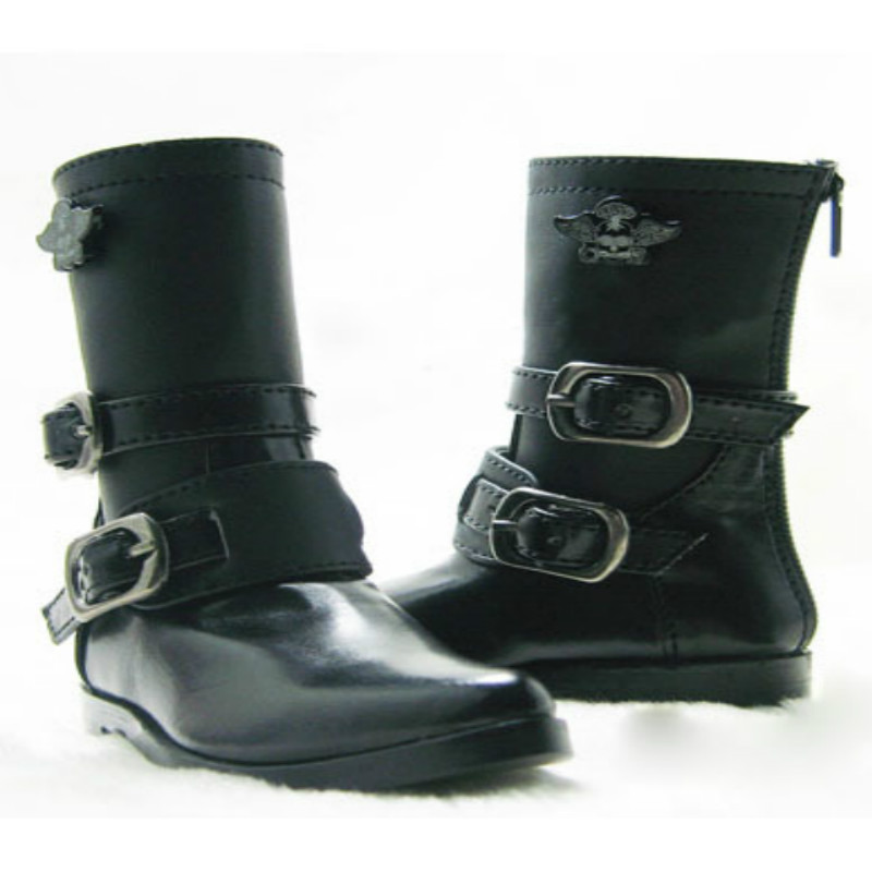 1/4 SD BJD boots leather shoes black white - msd js 081 bjd shoes pu shoes sd msd doll shoe factory sales directly