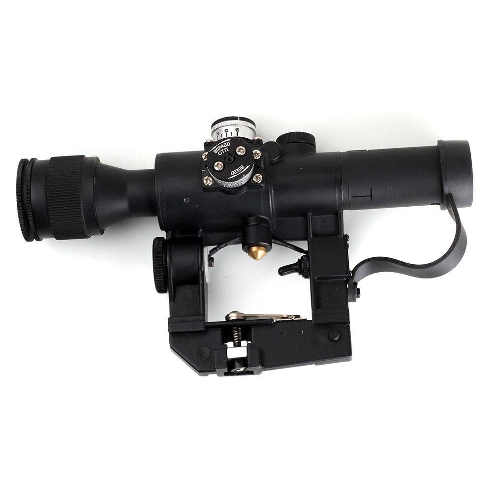 WIPSON Aim Optic Sight Tactical Rifle scopes Red Illuminated 4x24 PSO-1 Type Scope for Dragonov SVD Sniper AK Series Riflescope pso 1 soviet russian sniper svd ak47 romak norinco dragunov scope warsaw pact 4x26 telescopic sight optical hunting accessories