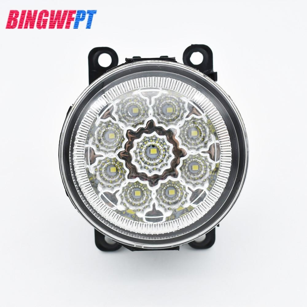 2pcs/set Left +Right LED Fog Light Lamp Assembly with 9-Pieces Leds Chips For Mitsubishi Outlander Sport 2013 2014 2015 2pcs right left fog light lamp for b mw e39 5 series 528i 540i 535i 1997 2000 e36 z3 2001 63178360575 63178360576