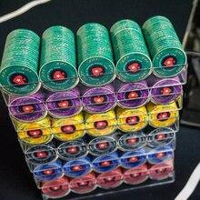 100/200/300/500/600/1000pcs Bulk Order Customize Denomination EPT PokerStars Ceramic Material Poker Chips Set