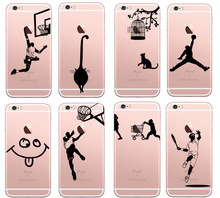 Sports Painting Phone Cases For iPhone 7 Plus Case For iPhone 5 5S Back Cover Silicone Coque Case For iPhone 6 6S Plus стоимость