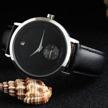 Moda SINOBI Relojes de Pulsera de Los Hombres 5Bar Impermeable Correa de Cuero Marca de Lujo Hombres Ginebra Reloj de Cuarzo Montres Hommes 2017