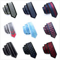 Hi-Tie 16 Styles Slim Ties for Men Suits 6cm Border Fixed Skinny Ties High Quality Mens Ties Neckties Gravatas Corbatas