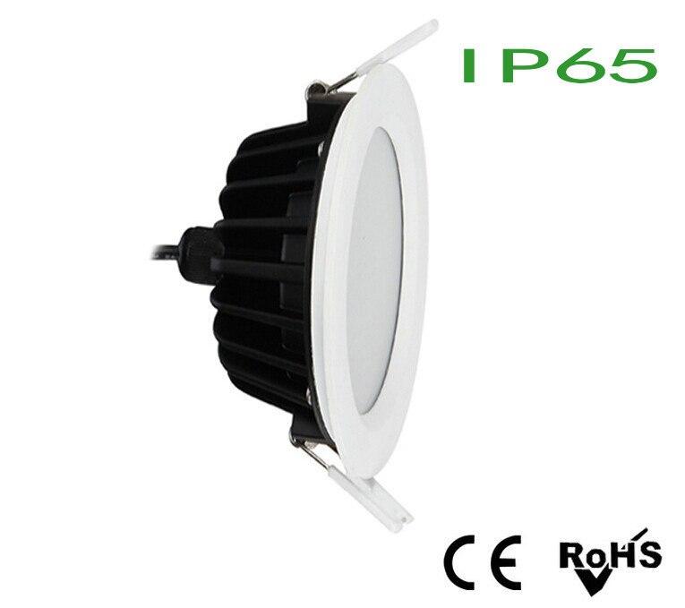 IP65 Водонепроницаемый LED Light 12 Вт/15 Вт очень яркий белый/теплый белый встраиваемые светодиодные светильники потолочные прожектор Лампы для м...