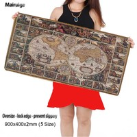 Free Shipping World Map Mouse Pad Gaming Mouse Pad Large Cartoon Anime Rubber Mouse Pad Keyboard