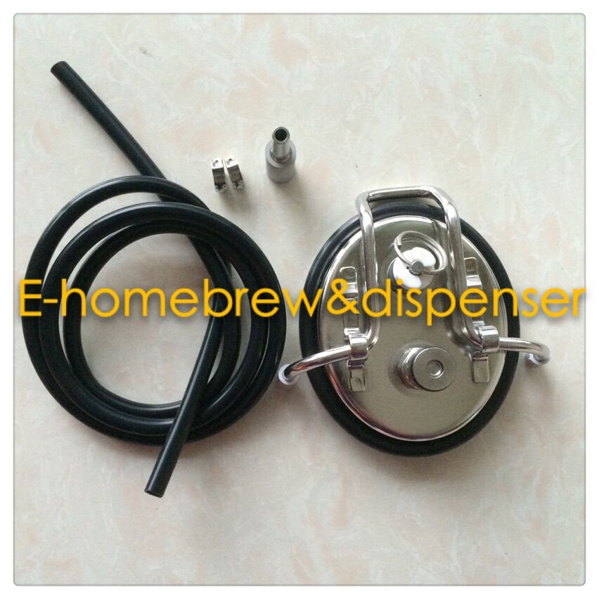 Free shipping Carbonation lid Soda Keg Lid w Carbonation Set With 1meter Tube and 0 5 Micron Oxygen Stone in Other Bar Accessories from Home Garden
