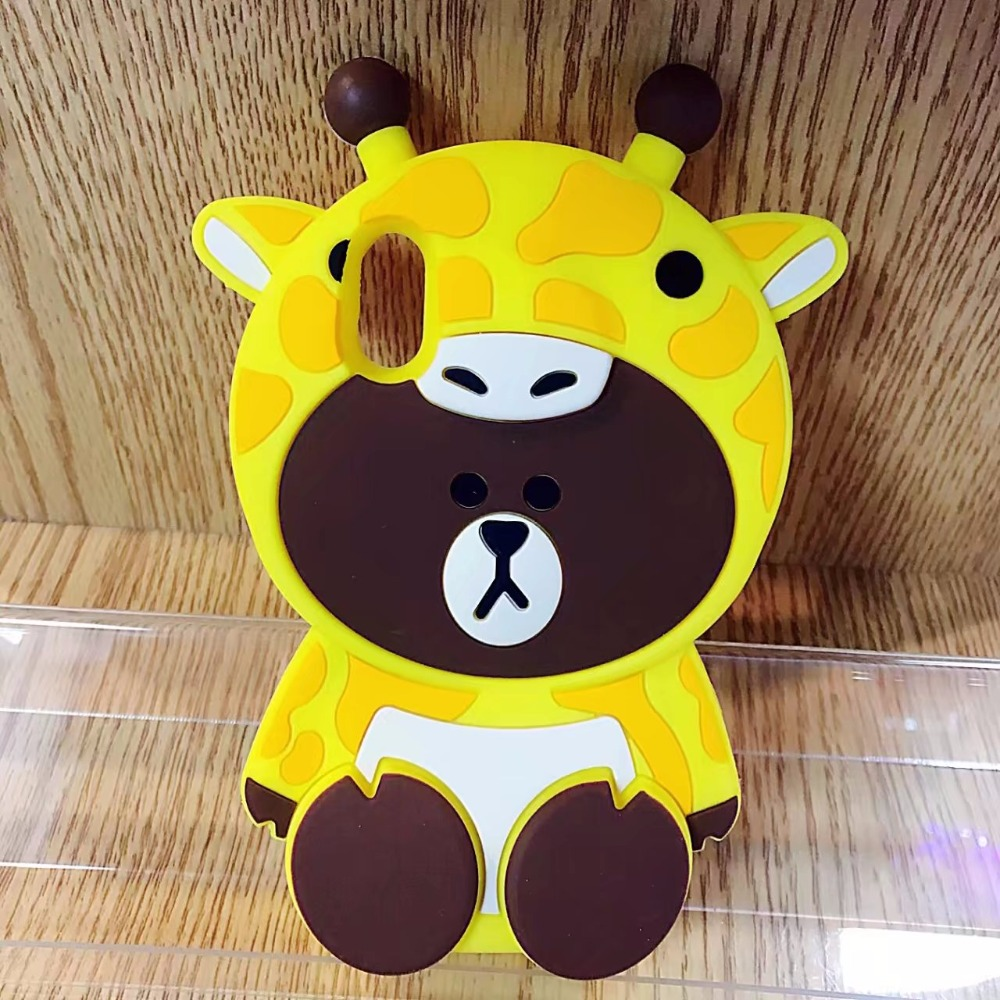 US $4 49 OFF Korea Kartun Lucu 3D Beruang Kasus untuk Apple iPhone X Lembut Silicon pelindung Shell Penutup untuk iPhone 6 6 S Ditambah 7 7