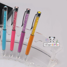 Crystal pen cute diamonds shining design custom printed with your wedding event date for bride and groom favors