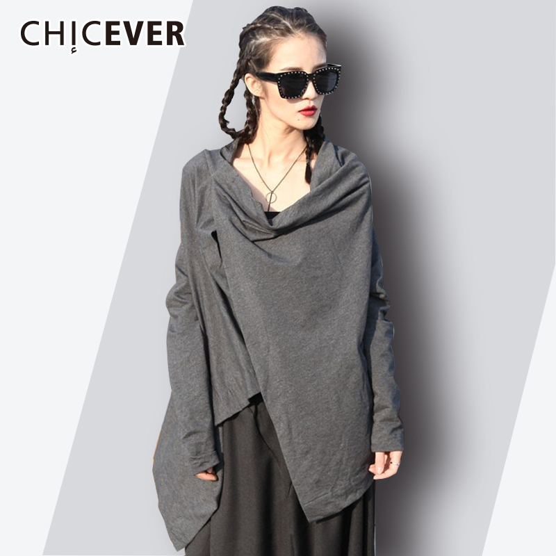 CHICEVER Irregular female T-shirt 2018 Summer Astmmetrical Batwing Sleeve Loose Womens Clothing Summer Top Streetwear Fashion ...