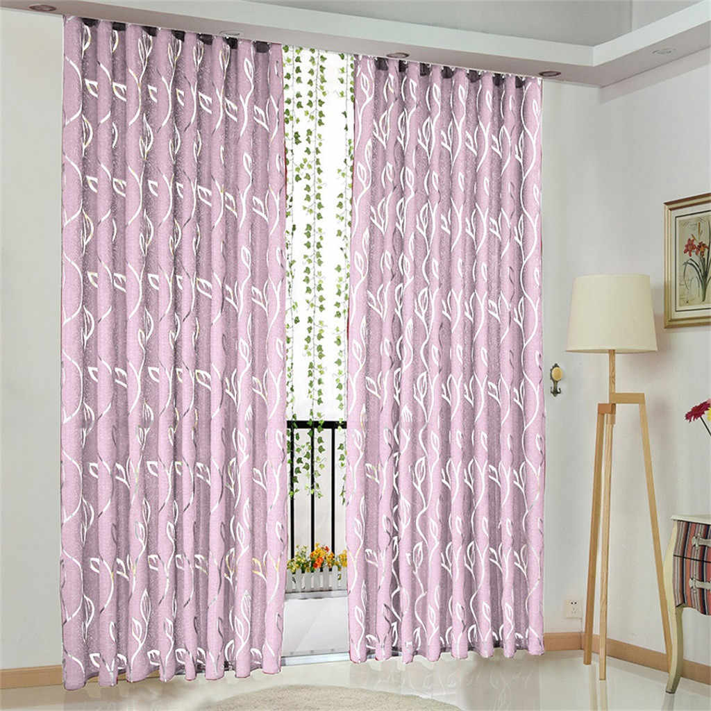 European and American style white Window Screening Solid Door Curtains Drape Panel Sheer Tulle For Living Room Dropshipping